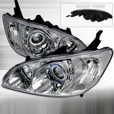 Custom Disco - Honda Civic Custom Disco Chrome Projector Headlights - LHP-CV04-KS