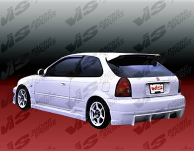 VIS Racing - Honda Civic HB VIS Racing TSC Rear Bumper - 96HDCVCHBTSC-002