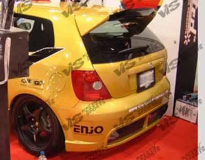 VIS Racing - Honda Civic HB VIS Racing TSC-2 Rear Bumper - 96HDCVCHBTSC2-002