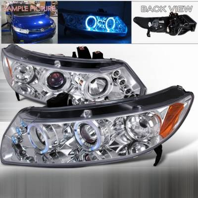 Custom Disco - Honda Civic 2DR Custom Disco Clear Projector Headlights - LHP-CV062-TM