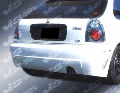 VIS Racing - Honda Civic HB VIS Racing TSC-3 Rear Bumper - 96HDCVCHBTSC3-002