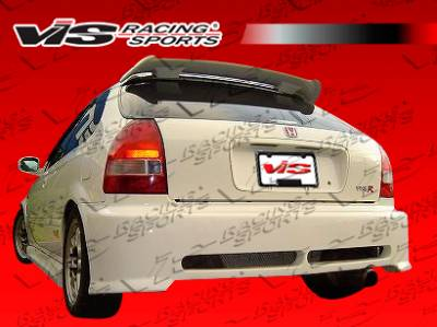 VIS Racing - Honda Civic HB VIS Racing Walker Rear Bumper - 96HDCVCHBWAL-002