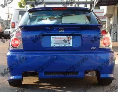 VIS Racing - Honda Civic HB VIS Racing Z1 boxer Rear Bumper - 96HDCVCHBZ1-002
