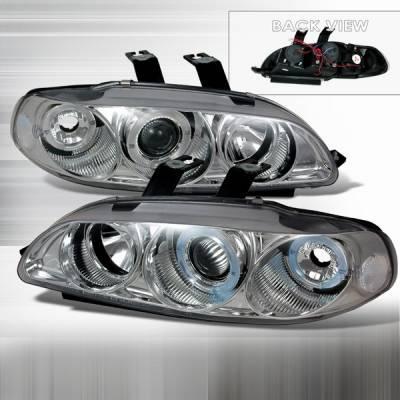 Custom Disco - Honda Civic Custom Disco Silver Projector Headlights - 1PC - LHP-CV923D