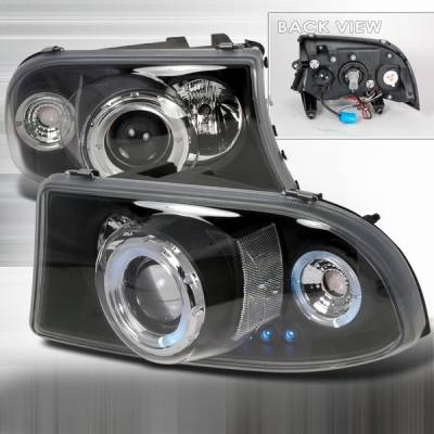 Custom Disco - Dodge Dakota Custom Disco Black Projector Headlights - LHP-DAK971PCJM-YD
