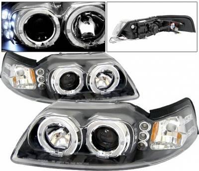 4 Car Option - Ford Mustang 4 Car Option Halo Projector Headlights - Black - LP-FM99BBR-5