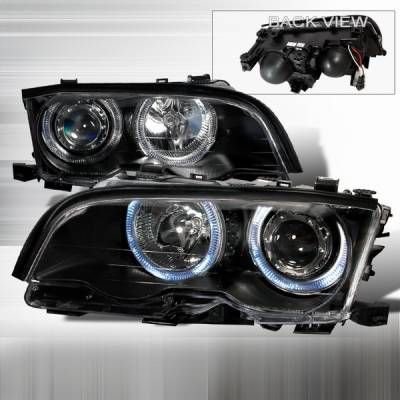 Custom Disco - BMW 3 Series Custom Disco Black Projector Headlights - LHP-E46024JM-KS