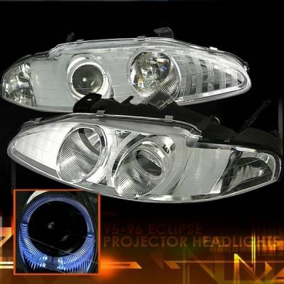 Custom Disco - Mitsubishi Eclipse Custom Disco Clear Projector Headlights - LHP-ELP95-KS