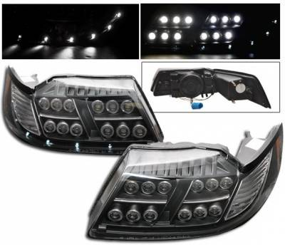 4CarOption - Ford Mustang 4CarOption LED Projector Headlights - LP-FM99LEDB-1