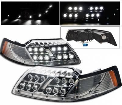 4CarOption - Ford Mustang 4CarOption LED Projector Headlights - LP-FM99LEDC-1