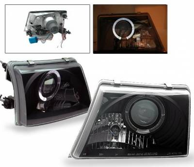 4CarOption - Ford Ranger 4CarOption Halo Projector Headlights - LP-FR98BB-YD