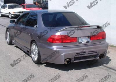 VIS Racing - Honda Accord 4DR VIS Racing Cyber Rear Bumper - 98HDACC4DCY-002
