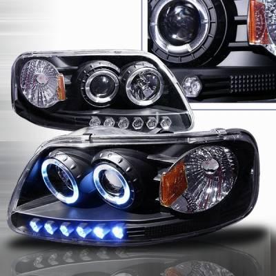 Custom Disco - Ford F150 Custom Disco Projector Headlights - 1PC - LHP-F15097A1PCJM