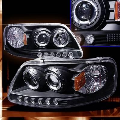 Custom - Ford F150 Custom Disco Black Projector Headlights - LHP-F15097JM