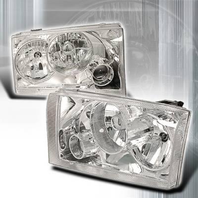 Custom Disco - Ford F250 Superduty Custom Disco Chrome Projector Headlights - LHP-F25099