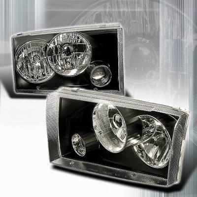 Custom Disco - Ford F250 Superduty Custom Disco Black Projector Headlights - LHP-F25099JM