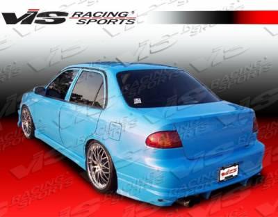 VIS Racing - Toyota Corolla VIS Racing Ballistix Rear Bumper - 98TYCOR4DBX-002