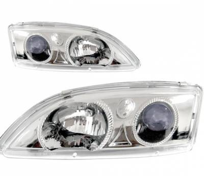 4 Car Option - Chevrolet Cavalier 4 Car Option Projector Headlights - Chrome - LP-GCA95CB-KS