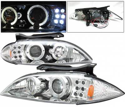 4 Car Option - Chevrolet Cavalier 4 Car Option Projector Headlights - Chrome - LP-GCA95CC-YD