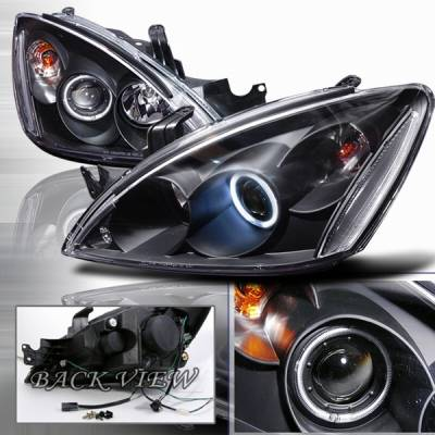 Custom Disco - Mitsubishi Lancer Custom Disco Black Projector Headlights - LHP-LAN03HJM-KS