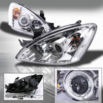 Custom Disco - Mitsubishi Lancer Custom Disco Chrome Projector Headlights - LHP-LAN03H-KS