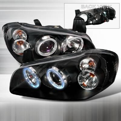 Custom Disco - Nissan Maxima Custom Disco Black Projector Headlights - LHP-MAX00JM-KS