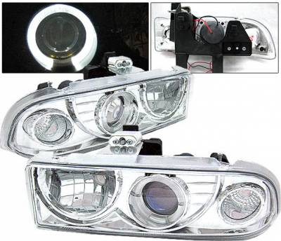 4 Car Option - Chevrolet S10 4 Car Option Halo Projector Headlights - Chrome - LP-GS98CC-YD