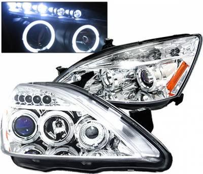 4 Car Option - Honda Accord 4 Car Option LED Halo Projector Headlights - Chrome - LP-HA03CB-5