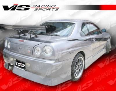 VIS Racing - Nissan Skyline VIS Racing B-Speed Rear Bumper - 99NSR34GTRBSP-002