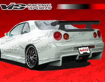 VIS Racing - Nissan Skyline VIS Racing Invader Rear Bumper - 99NSR34GTRINV-002