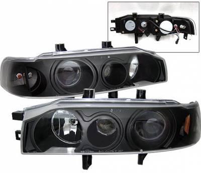 4 Car Option - Honda Accord 4 Car Option Projector Headlights - Black - 1PC - LP-HA90BB-KS