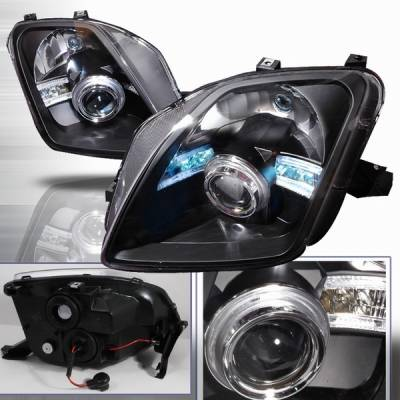 Custom Disco - Honda Prelude Custom Disco Black Projector Headlights - LHP-PL97JM-ABM