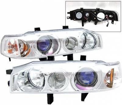4 Car Option - Honda Accord 4 Car Option Projector Headlight Chrome - 1PC - LP-HA90CB-KS