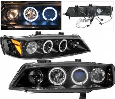 4 Car Option - Honda Accord 4 Car Option LED Dual Halo Projector Headlights - Black - LP-HA94BB-5