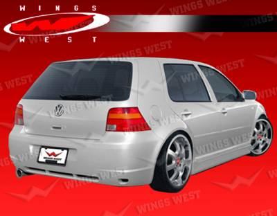 VIS Racing - Volkswagen Golf VIS Racing JPC Type A Rear Bumper - 99VWGOF2DJPCA-002