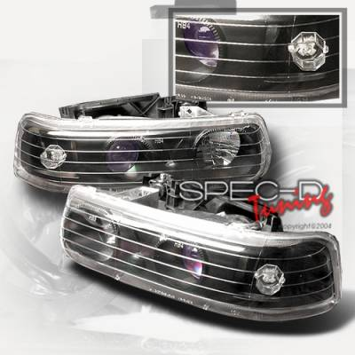 Custom Disco - Chevrolet Silverado Custom Disco Non-Halo Projector Headlights - LHP-SIV99JM