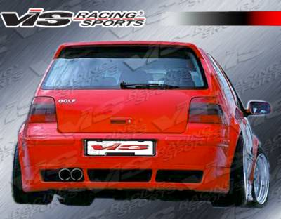 VIS Racing - Volkswagen Golf VIS Racing R-Tech Rear Lip- 99VWGOF2DRTH-002