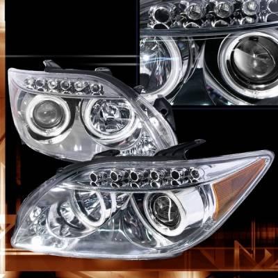 Custom Disco - Scion tC Custom Disco Chrome LED Halo Projector Headlights - LHP-TC05-KS