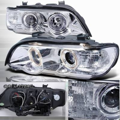 Custom Disco - BMW X5 Custom Disco Chrome Projector Headlights - LHP-X500-APC