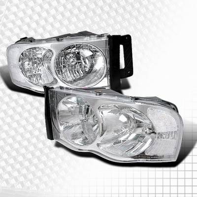 Custom Disco - Dodge Ram Custom Disco Chrome Headlights - LH-RAM02-KS