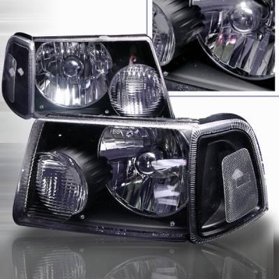 Custom Disco - Ford Ranger Custom Disco Black Headlights - LH-RAN01JM-KS