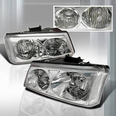 Custom Disco - Chevrolet Silverado Custom Disco Crystal Headlights - LH-SIV03-KS
