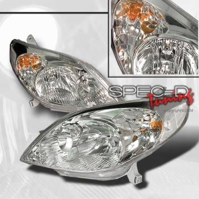 Custom Disco - Toyota Matrix Custom Disco Chrome Headlights - LH-TRIX03-KS