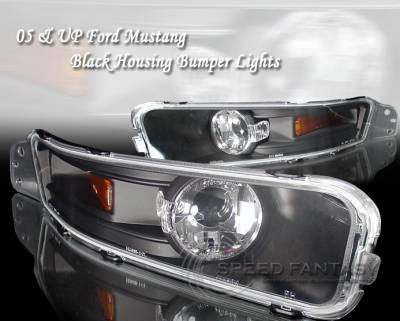Custom - Black Amber Turn Signal Light