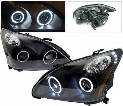 4 Car Option - Lexus RX 4 Car Option Halo Projector Headlights - Black CCFL - LP-LRX330BF-KS