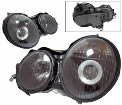 4 Car Option - Mercedes-Benz E Class 4 Car Option Projector Headlights - Black - LP-MBZE95BC-KS
