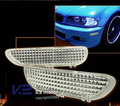 Custom - 2D Front Clear Bumper Lights