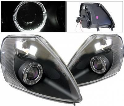 4 Car Option - Mitsubishi Eclipse 4 Car Option Halo Projector Headlights - Black - LP-ME00BB-KS