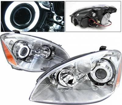 4 Car Option - Nissan Altima 4 Car Option Halo Projector Headlights - Chrome CCFL - LP-NA02CC-KS