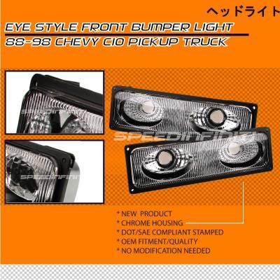 Custom - Chrome Eye Style Bumper Lights